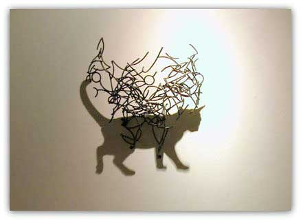 Sculture di ombre, Larry Kagan, gatto